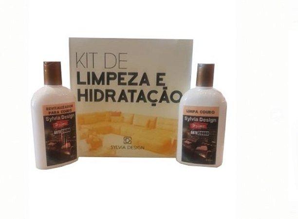 Kit couro sd01- revitalizador e higienização para couro