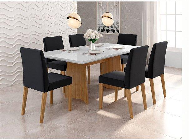 Cjt mesa de jantar sd03- ayla nll c/ 6 cadeira