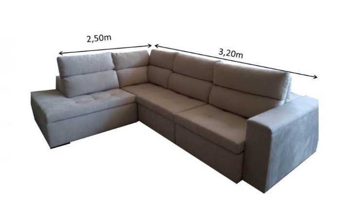 Sofá De canto Retrátil e Articulado 320 x 2,50 mts