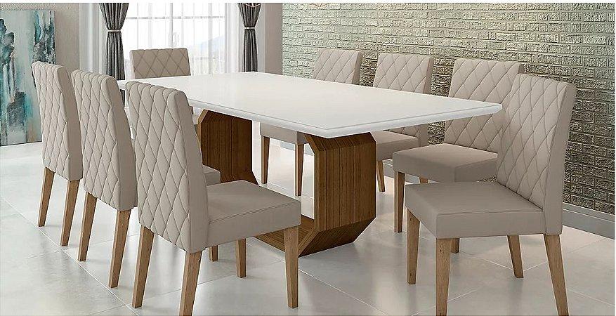 Mesa de Jantar com 8 Cadeiras 2,20x1,10 mts