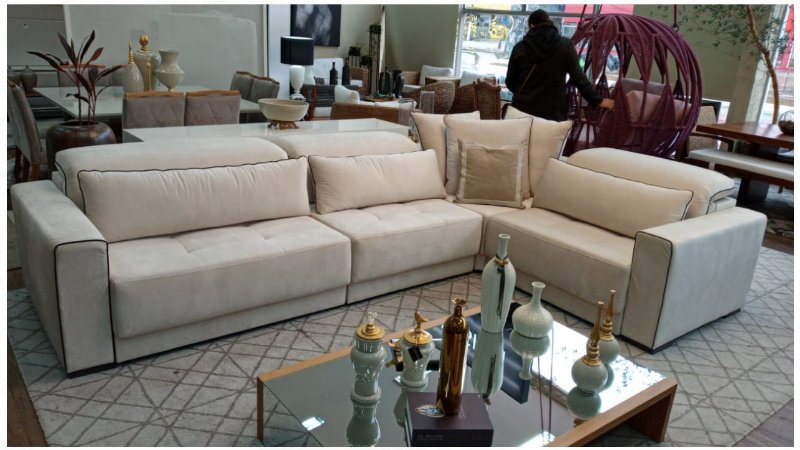 Sofa sd02 mo-fmrt modelo brg com chaise 290 x 2,10  mts