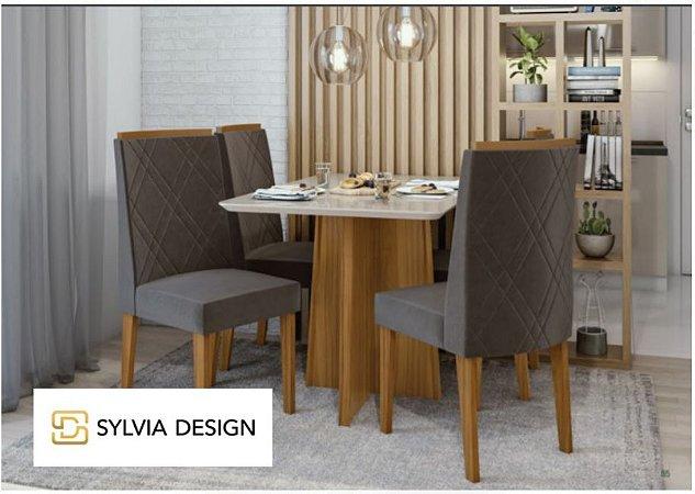 Conjunto de Jantar com 4 Cadeiras