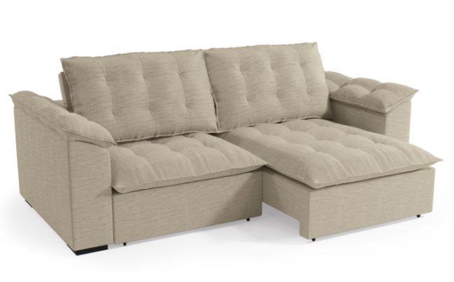 Sofa Retratil Luandra 2,48m em Linho