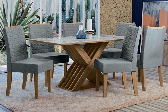 Mesa de Jantar Lene com 6 Cadeiras
