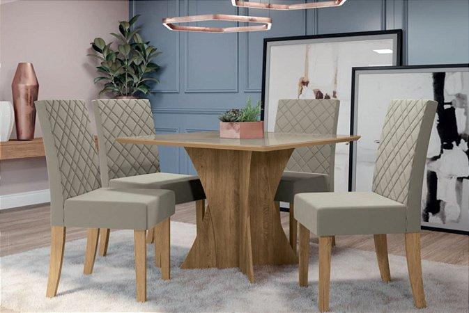 Mesa de jantar com 4 Cadeiras Fontana