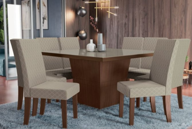 Mesa de jantar com 8 Cadeiras Lancer