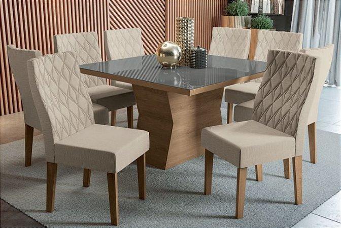 Mesa de jantar com 8 Cadeiras Libra