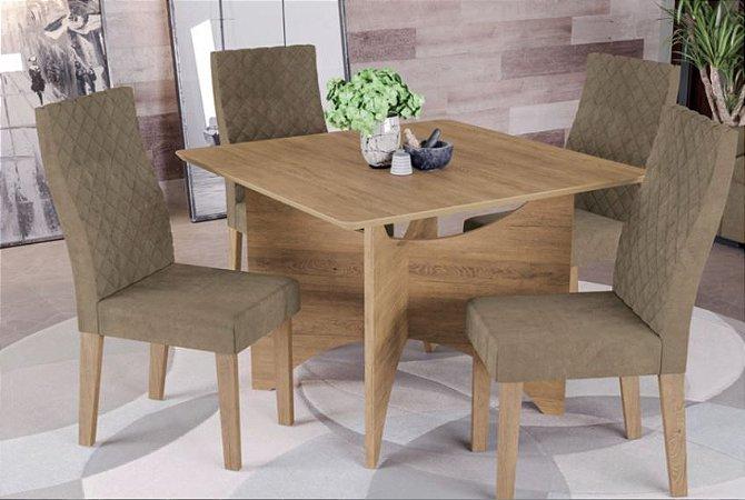 Mesa de jantar com 4 Cadeiras Dulce