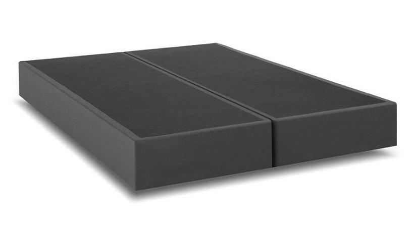 Base Cama Box Queen Cinza Califórnia 1,58 x 1,98 mts ( Bi- Partida)