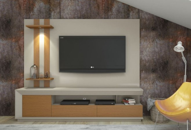 "Home Theater Luigi com Led para TV até 55 ""  180 mts"