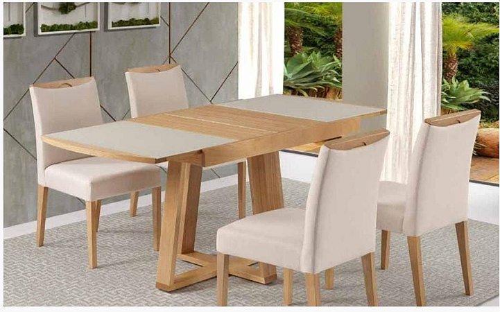 Cjt de Mesa de Jantar Extensível Oceano com 4 Cadeiras