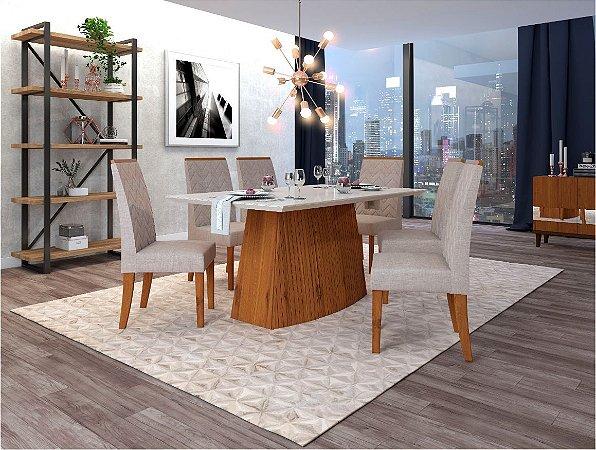 Conjunto Mesa de Jantar com 6 Cadeiras Ilhéus