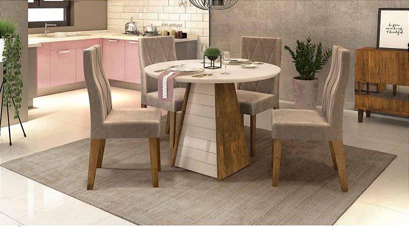 Mesa de Jantar com 4 Cadeiras Cayman