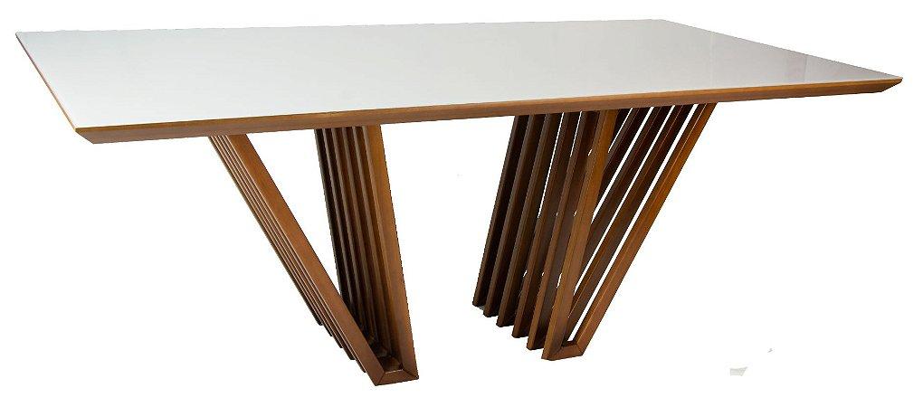 Mesa de jantar Capri com Vidro