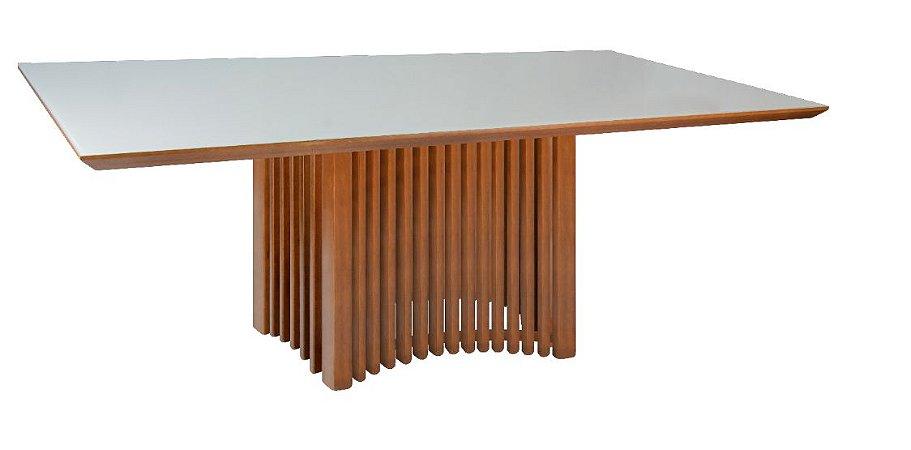 Mesa de jantar Coliseu com Vidro