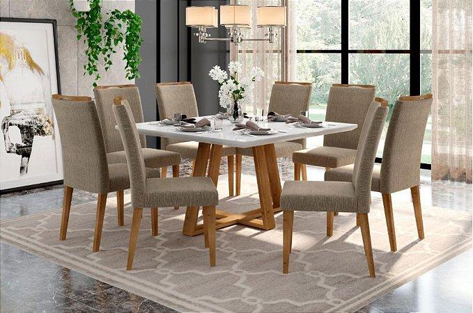 Conjunto de Jantar Noa com 8 Cadeiras