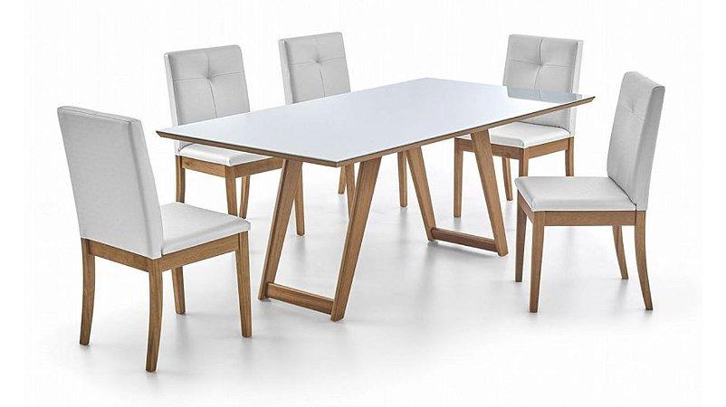 Conjunto de Jantar com 6 Cadeiras Laguna