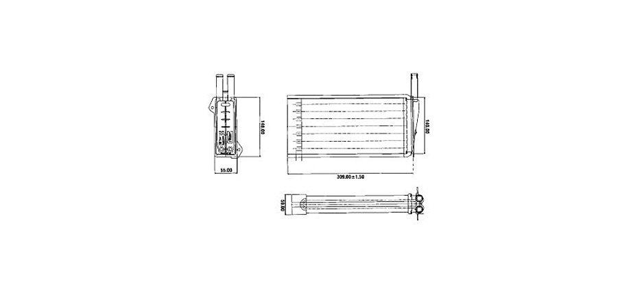 Radiador Do Ar Quente Escort / Verona / Logus