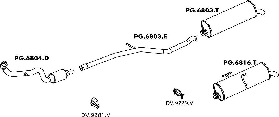 Silencioso Peugeot  206 Traseiro