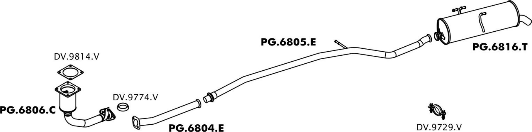Tubo Escapamento Do Motor Peugeot 206 1.4 2004 / 2009