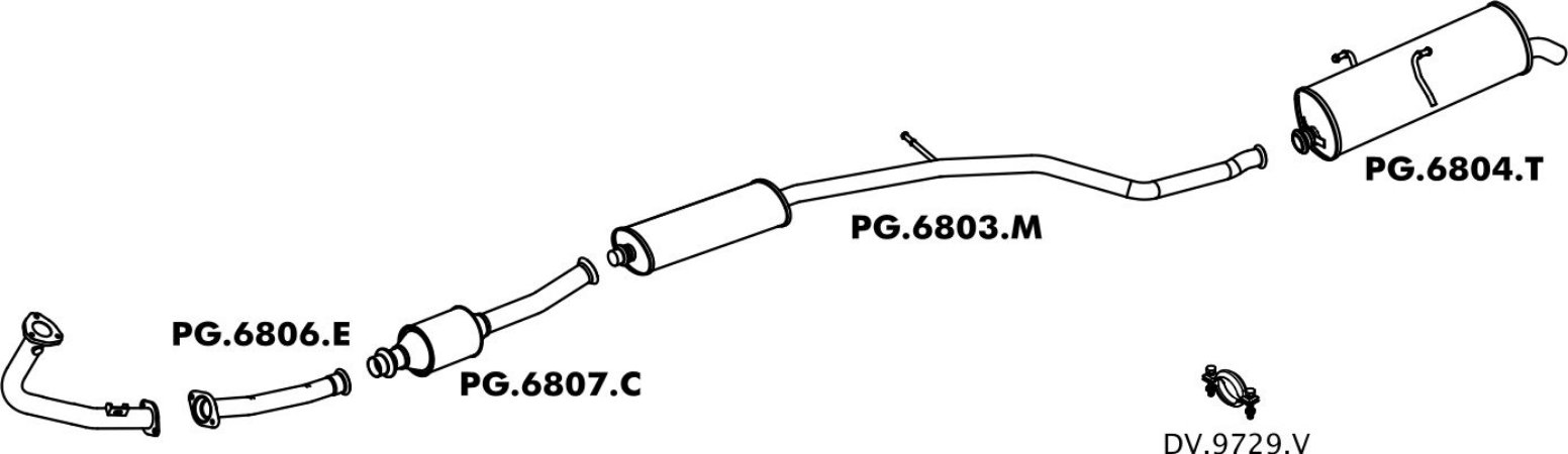 Silencioso Peugeot 206 Intermediario
