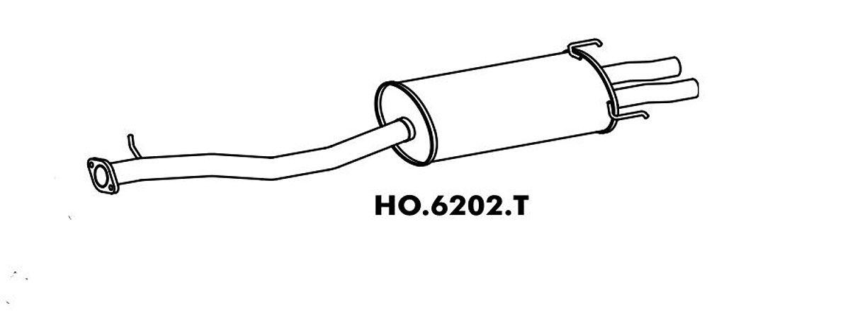 Silencioso Honda Accord 2.2 91/94  Traseiro