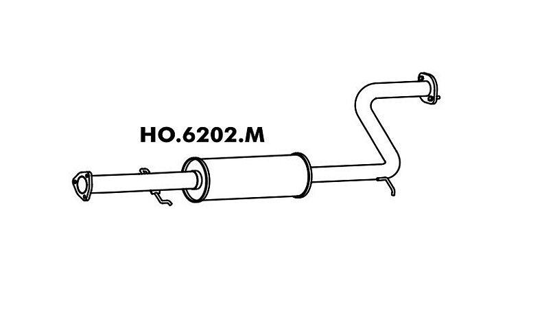 Silencioso Honda Accord 2.2 91/94 Intermediario