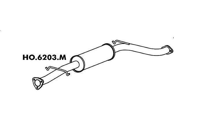 Silencioso Honda Accord 2.2I 95/98 / 2.3 Ex Intermediario