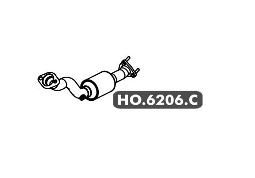 Catalisador Honda City Secundario Com Sonda 1.5 16V Gii 2009 A 2014