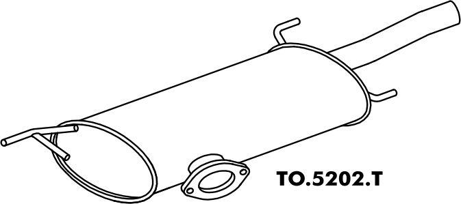 Silencioso Toyota Camry 96 Em Diante traseiro