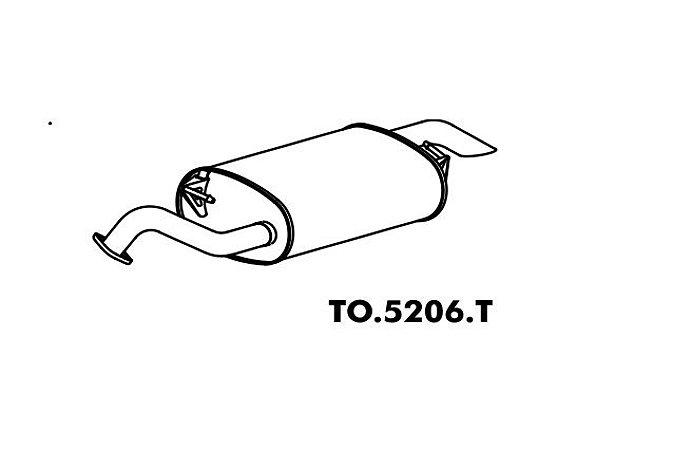 Silencioso Toyota Corolla 1.6 16V 2002 A 2010 Traseiro