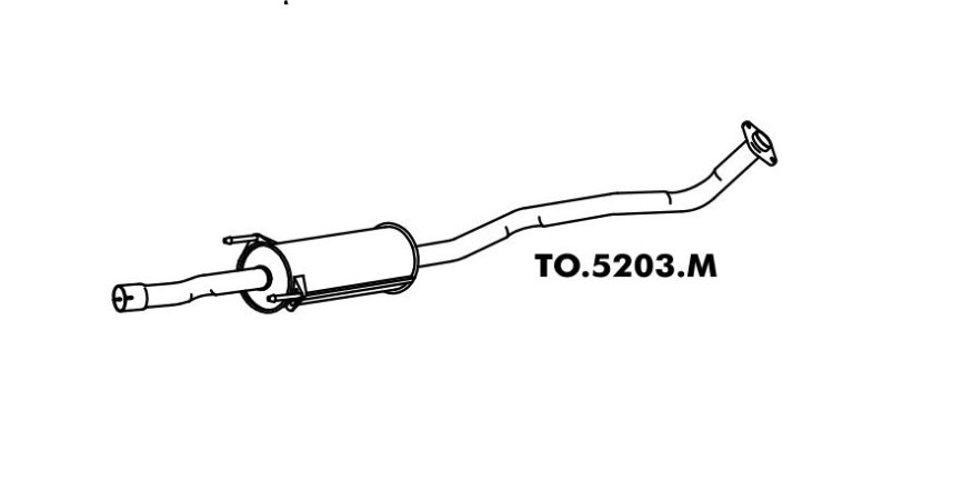 Silencioso Toyota Corolla / Fielder 1.8 16V 2002 A 2008 Intermediario