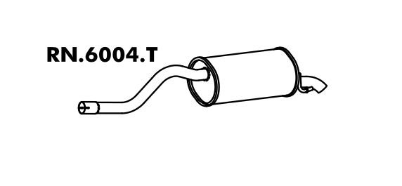Silencioso Clio 1.0 8V Hatch / Sedan 99 A 2012 Traseiro