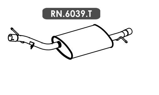 Silencioso Duster Oroch 2.0 16V 2015 Em Diante Traseiro