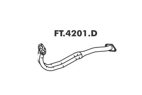 Tubo Saida Do Motor Fiorino 1.3 84 Em Diante
