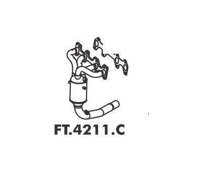 Catalisador Fiorino Fire 1.3 8V 2003 A 2013 Com 2 Sondas