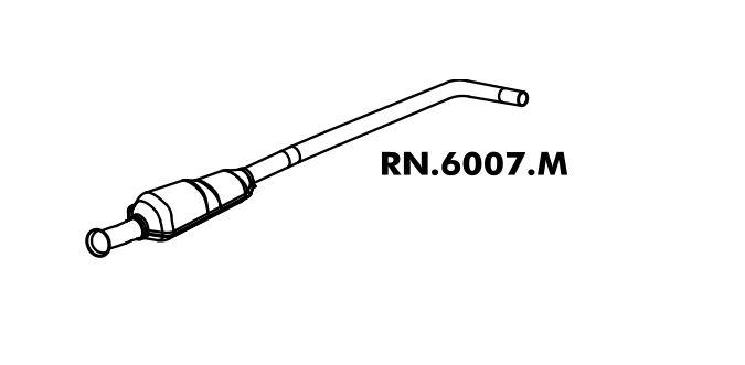 Silencioso Mégane 1.6 8V / 1.6 16V / 2.0 8V / 2.0 16V Intermediario