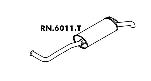 Silencioso Reanult Rt 19 1.8 Sedan/ Hatch 4P 94 A 98 8V ? Rn 19 1.6 Hatch 2/4 P 94 A 98 8V Traseiro