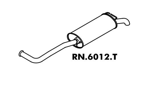Silencioso Renault Rt 19 1.8 Sedan/ Hatch 4P 94 A 98 8V ? Rn 19 1.6 Hatch 2/4 P 94 A 98 8V Traseiro