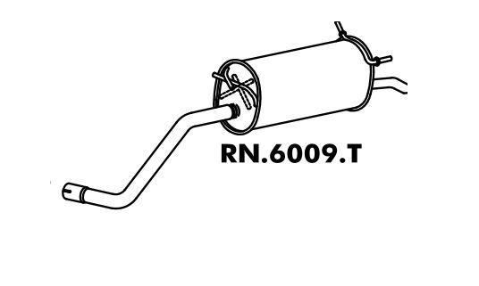 Silencioso Scénic 1.6 16V 99 A 2010 / Scénic 2.0 8V 99 A 2004 / 2.0 16V 2001 A 2009 Traseiro