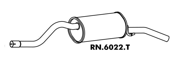 Silencioso Symbol 1.6 16V 2009 A 2014 Traseiro