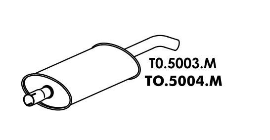 Silencioso Toyota Pick-Up Bandeirante Motor Mbb 90 Até 93