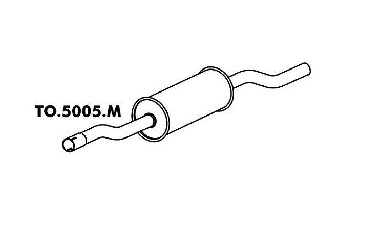 Silencioso Pick-Up Bandeirante Motor Mbb 90 Até 93 Intermediario