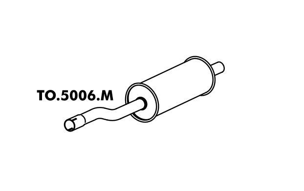 Silencioso Pick-Up Bandeirante Motor Mbb 90 Até 93 Traseiro