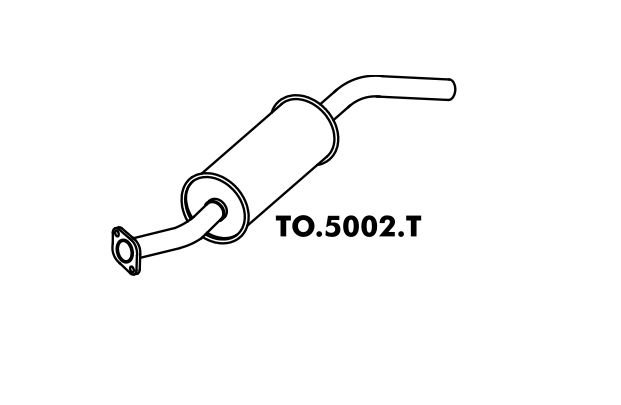 Silencioso Pick-Up Bandeirante Motor Toyota 94 Em Diante Traseiro