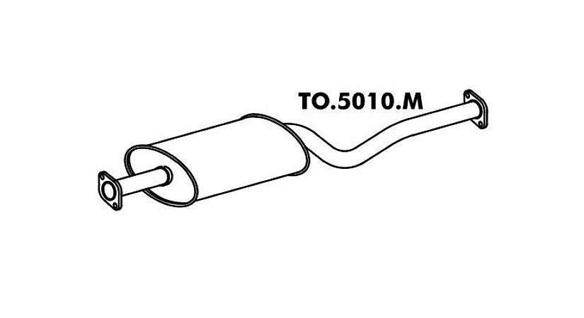 Silencioso Pick-Up Bandeirante Motor Toyota 94 Em Diante Intermediario