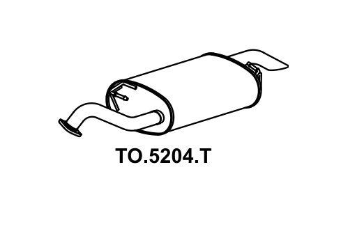 Silencioso Corolla 2.0 16V 2011 A 2014 Traseiro