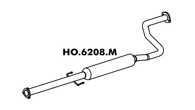 Silencioso Honda Civic 1.6 Lx / Ex 92 / 96 Intermediario