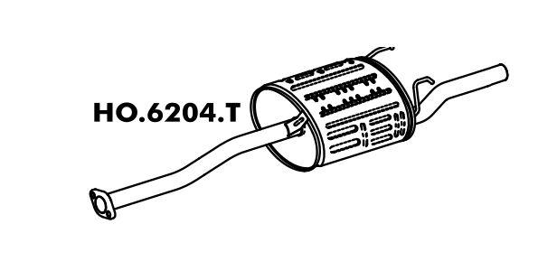 Silencioso Honda Civic 1.6 Lx / Ex 92 / 96 Traseiro