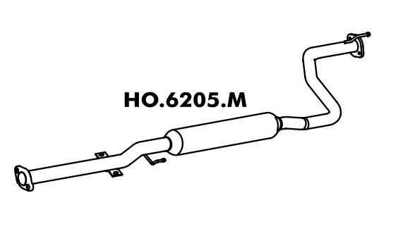 Silencioso Honda Civic 1.6 Lx 97 Até 2000 Intermediario